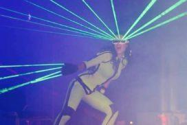 Concepts de soirées clubbing artites performeurs cirque france robot led, gogo-led, lazer