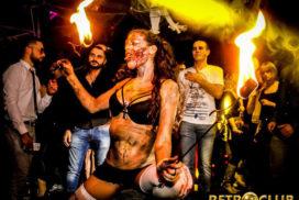 Concepts de soirées clubbing artites performeurs cirque france bain de sang zombies