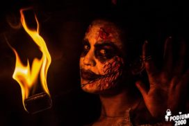 Concepts de soirées clubbing artites performeurs cirque france cracheuse de feu the real walking dead zombies