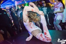 Concepts de soirées clubbing artites performeurs cirque france contorsionniste zombie the real walking dead