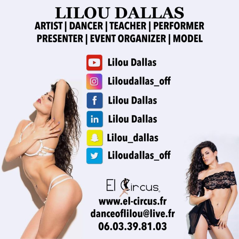 lilou dallas - artiste internationale - teacher dancer - event organizer - model - booking - france - spectacle