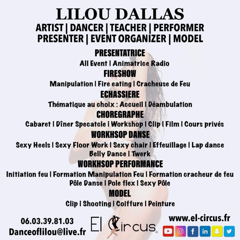 ALL PRESTATIONS LILOU DALLAS